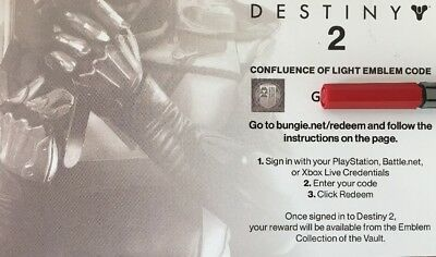 Destiny 2 Emblem Code Confluence Of Light