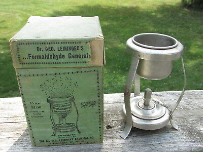 DR Leininger FORMALDEHYDE Generator BOXED Set COMPLETE - Nice Quack COLLECTABLE