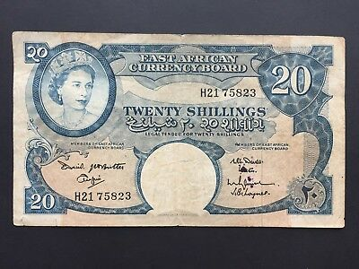 East African Currency Board 20 Shillings P43 issued 1961 Fine