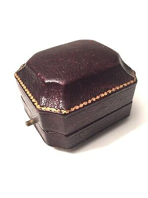 Antique Victorian Leather Ring Box Jewellery/Jewelry Display Case