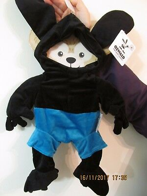 "Disney Parks , Duffy Bear Oswald The Lucky Rabbit Costume Outfit 17"" Bnwt"