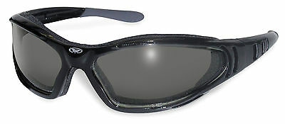 Motorcycle padded antifog sunglasses/Biker wraps 4 bobber criuser + Free pouch