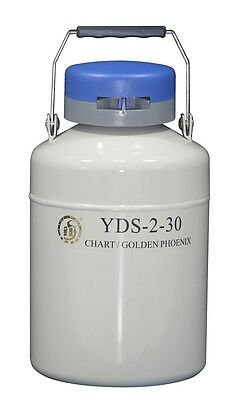 2 L Liquid Nitrogen Container Cryogenic LN2 Tank Dewar with Strap YDS-2-30