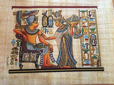 Hand Made Egyptian Papyrus   Size 8 X  12   Inch   6 7