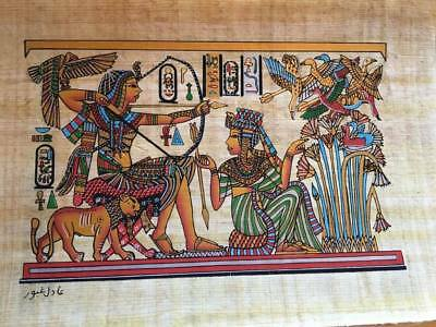 Hand Made Egyptian Papyrus   Size 8 X  12   Inch   6 1
