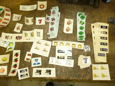 LARGE LOT 1000'S  SLOT MACHINE DECALS MGM SHOWBOAT SANDS OTHERS  Mills Bally