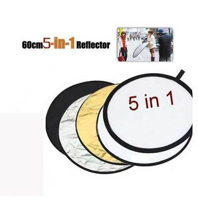 5 in1 60cm Collapsible Reflector Multi Panel Light Disc Photo Photography