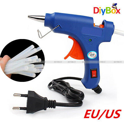 20W Electric Heating Melt Glue Gun 7mm Adhesive Stick Hot Trigger Repair Tool