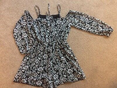 Girls Cold Shoulder Playsuit Age 12 party M&Co