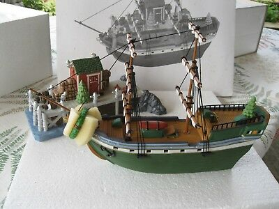 Dept 56 'The Emily Louise' Boat with Dock