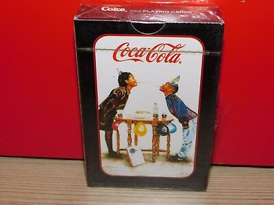 """""""birthday Party"""" Coca Cola Playing Cards! Brand New! Free Shipping!"""