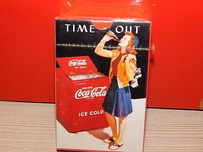 """""""time Out"""" Coca Cola Playing Cards! Brand New! Free Shipping!"""