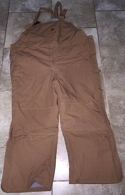 Duck Brown BULWARK FR Flame Resistant Insulated Bibs Fire Retardent 3XL (XXXL)