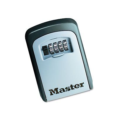 Master Lock Lock Box Set Your Own Combination Wall Mount Key Safe 3-1/4 in. W...