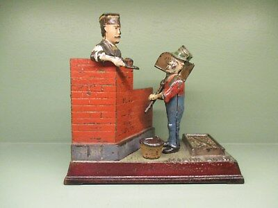 "Cast Iron ""MASON BANK"" Mechanical Bank..Original Antique Americana Toy"