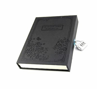Vintage Balck Diary Notebook Journal Notepad Hard Cover With Code Lock Gift B...