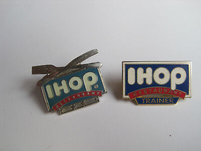 2 IHOP Resturant Lapel Pins Trainer Pin