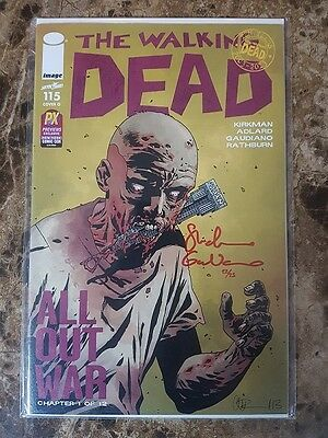 The Walking Dead #115 CVR O - Signed Stefano Gaudiano 22/25 - Dynamic Forces -NM