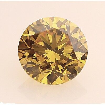 Diamant/Brillant/Moissanite  1,22 ct. VVS 2  7,00 mm   Fancy Gold Brown  Top !