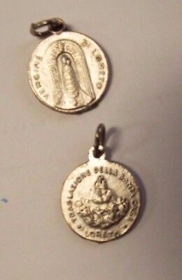Our Lady of Loreto Vintage Silver tone Medal, New From Italy