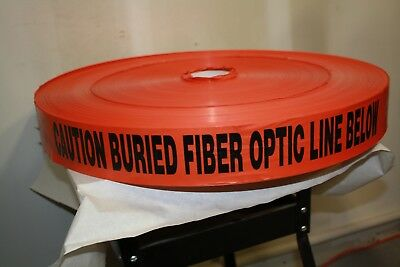 """CAUTION BURIED FIBER OPTIC CABLE 3"""" x 6000 FEET x 6 MIL"""