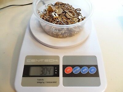 296 Grams Antique Gold Filled Watch Chains Necklaces Parts Pieces Scrap Recovery