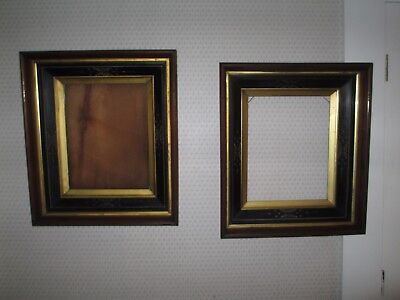 Matching Pair of Antique Eastlake Deep Walnut Frames w/ Carvings /  NR 113