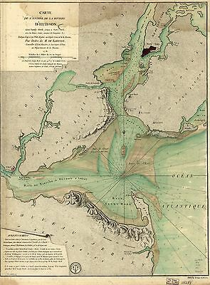 12x18 inch Reprint of Lakes And Rivers Map Hudson