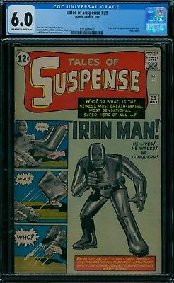 Tales of Suspense 39 CGC  6.0 1st Iron Man  ow/w pages!