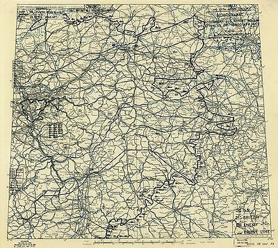12x18 inch Reprint of American Military Map 12th Army Group
