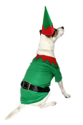 Armitage Christmas Elf Costume For Dogs Festive Novelty Xmas Costume