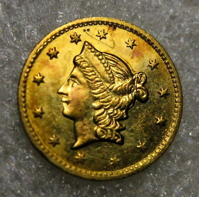 1853 California Fractional Gold 1/2 Dollar BG 430 Uncirculated