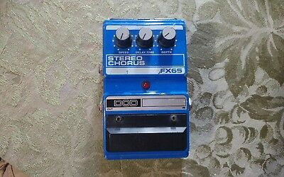DOD FX65 Stereo Chorus Guitar Effects Pedal / Stompbox FX-65 Untested