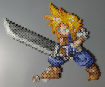 Cloud Strife Final Fantasy 7 SquareEnix Perler Beads