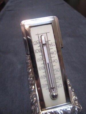 Vintage Sterling Black Starr & Frost Tabletop Cased Thermometer