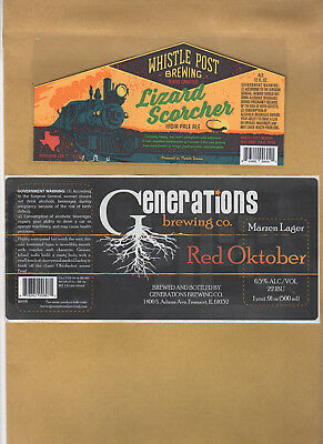Rare Micro Beer Labels  Whistle Post  Generations  Shorts !!!