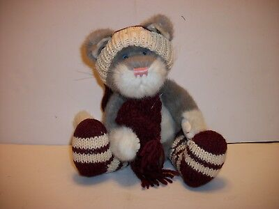 Boyd's Bears Cat Muffles T. Toasty Toes Winter JR Bean & Associates with Tags