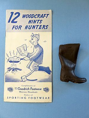 B.F Goodrich Footwear Advertising Boot & Booklet: 12 Woodcraft Hints For Hunters