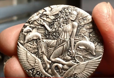 Perth Mint 2015- GODDESS OF OLYMPUS 2oz High Relief Silver Coin: APHRODITE