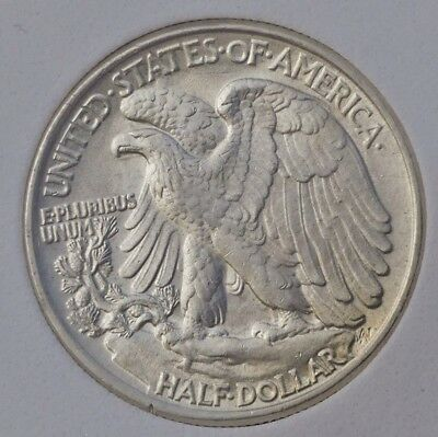 1945 US Half Dollar MS-63 graded, slabbed coin, USA 50c