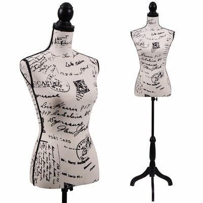 Female Mannequin Torso Clothing Dress Form Display Black Tripod Stand New