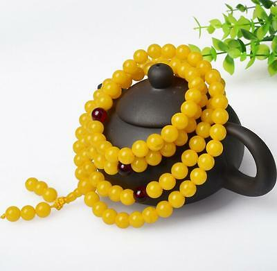 National Style  Baltic Amber Old Beeswax Bracelet for women