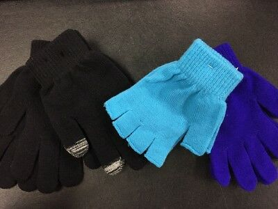 Sale! 4 Pairs Of Joe Boxer Kids Winter Gloves, One Size Fits All