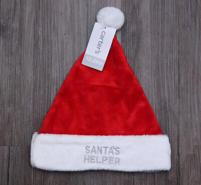 Carter's Baby Santa Hat ~ 12-24 Months ~ Red & White ~ Santa's Helper ~