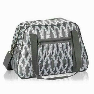 Thirty-One 31 Gifts All-In Tote in Charcoal Links Travel Gym Tote NEW RETIRED