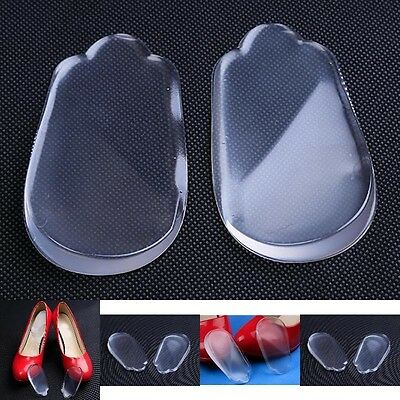 NEW Heel Support Pad Cup Spur Gel Silicone Shock Orthotics Cushion Shoe Insoles#