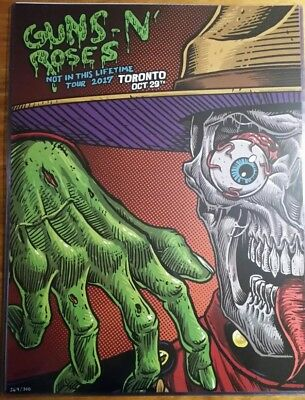 Limited Edition Guns n Roses Poster Toronto Johnny Crap xx/300