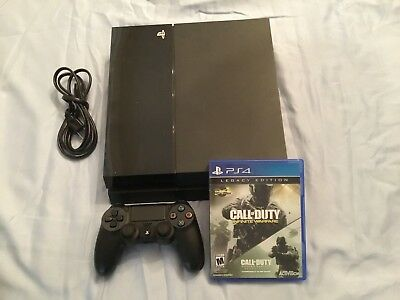 Sony PlayStation 4 PS4 500 GB Black CALL OF DUTY IW BUNDLE CONSOLE CONTROLLER +