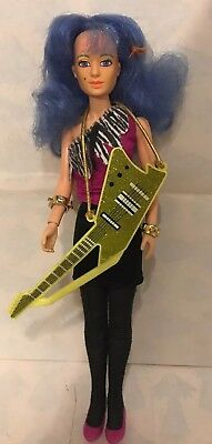Jem and the Holograms Stormer Misfits Doll With Guitar Vintage hasbro