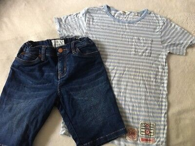 COUNTRY ROAD T-shirt size 6 And Pair Of Shorts With Adjustable Waist Size 7